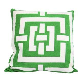 Florence Broadhurst Green Trellis Throw Pillow