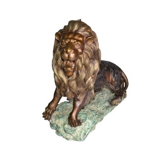 Heavy Solid Bronze Lion