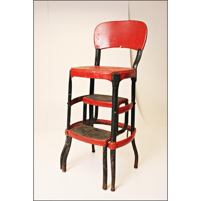 Mid-Century Metal Step Stool - Image 4 of 11