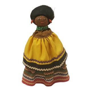 Vintage Handmade Straw Doll