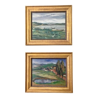 Landscape Paintings by Same Author - A Pair