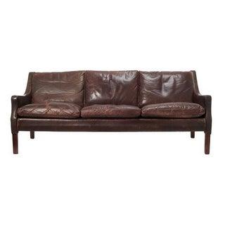 Vintage Distressed Leather Sofa