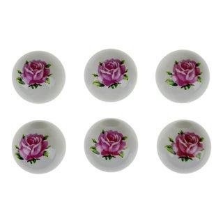 Vintage Porcelain Ceramic Floral Drawer Pull Knobs - Set of 69
