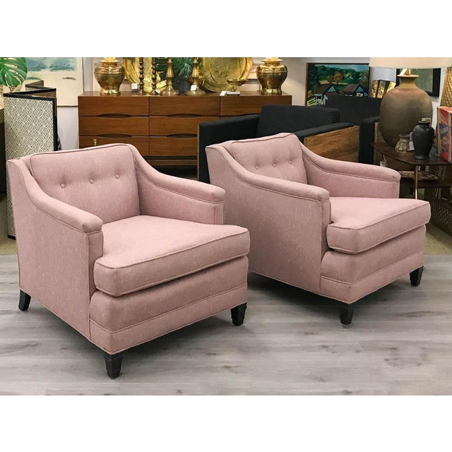 Mid-Century Transitional Club Chairs - A Pair - Image 8 of 8