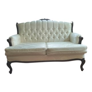 White Victorian Loveseat