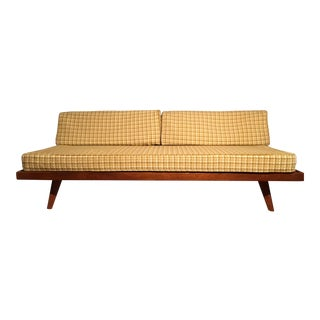 Mid-Century Yellow Houndstooth Daybed