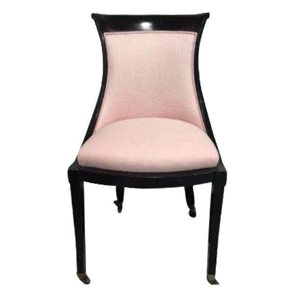 Pink 19th Century Ebonized Chair - Image 1 of 8