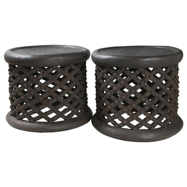 Image of Cameroon Side Tables - Pair