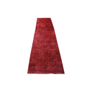 "Red Color Overdyed Runner - 2'6"" X 11'2"""