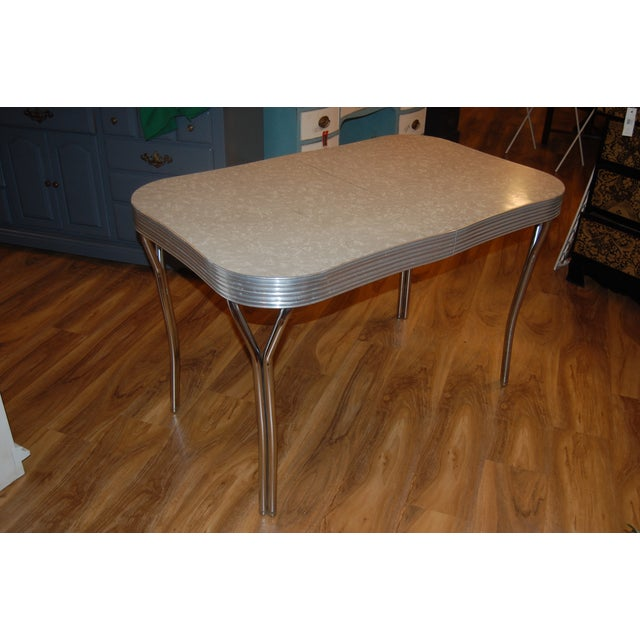 1950s Y-Leg Chrome Dining Table - Image 2 of 6