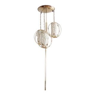 Vintage Mid-Century Gold Tension Pole Lamp