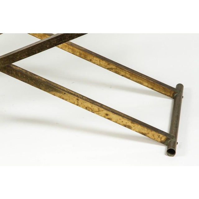 Brass & Glass Tray Coffee Table - Image 3 of 8