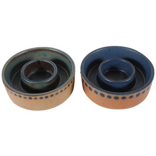 Gustavsberg Blue Cigar Trays - A Pair