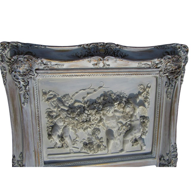 French Style Putti Trumeau Mirror - Image 2 of 9