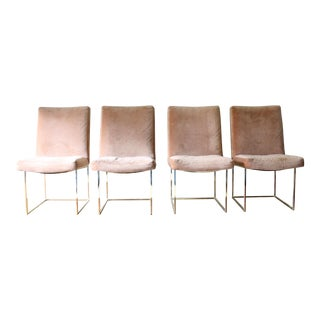 Vintage Milo Baughman Brass Dining Chairs - Set of 4