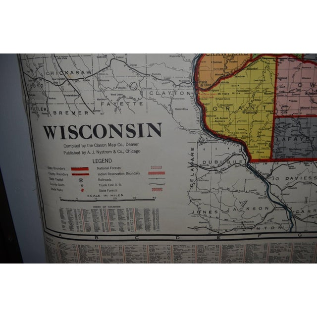 Classroom Map of Wisconsin Wall Mount - Image 4 of 10