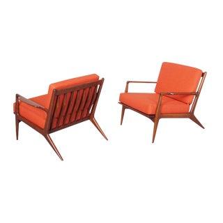 Ib Kofod Larsen Danish Lounge Chairs - A Pair