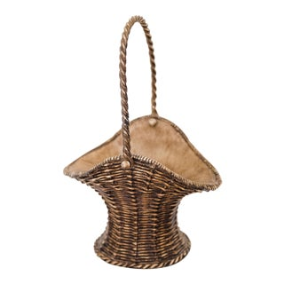 Resin Basket with Handle