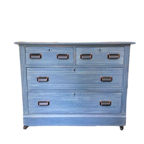 Image of Denim Inspired Custom Painted Dresser