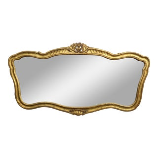 French Provincial Style Gold Gilt & Plaster Wall Mirror