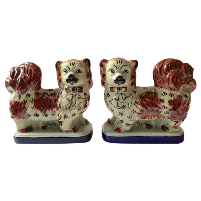 Vintage Tibetan Chinese Imperial Dogs - A Pair - Image 1 of 6