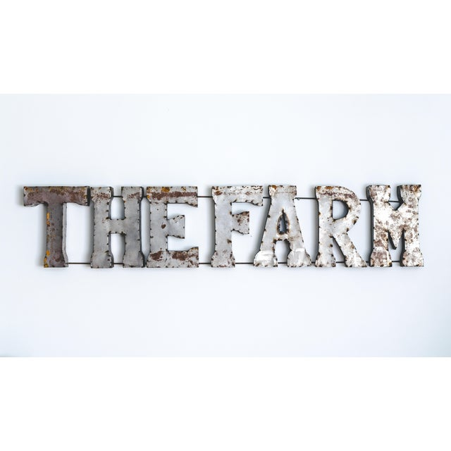 Image of The Farm Rustic Metal Marquee Sign