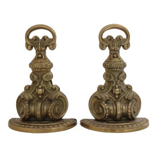 Brass Ornate Bookends - A Pair