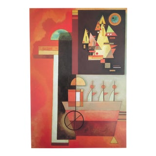 "1979 Abstract Kandinsky Original Lithograph Print "" Painting Within a Painting "" 1936"