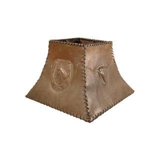 1920s Ranch Cowboy Lamp Shade, Copper
