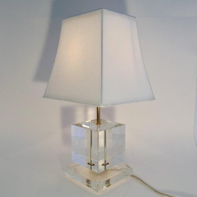Victoria Hagan Geometric Crystal Table Lamp | Chairish