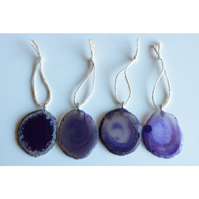 Agate Slice Christmas Ornaments - Set of 8 - Image 5 of 6