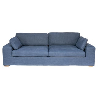 Sarreid LTd. Contemporary Blue Family Sofa