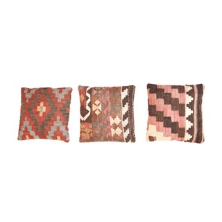 Turkish Kilim Rug Pillows - Set of 3
