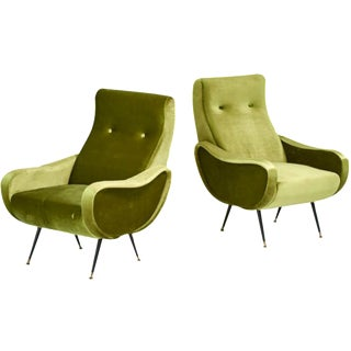Marco Zanuso Style Mid-Century Lady Chairs - A Pair
