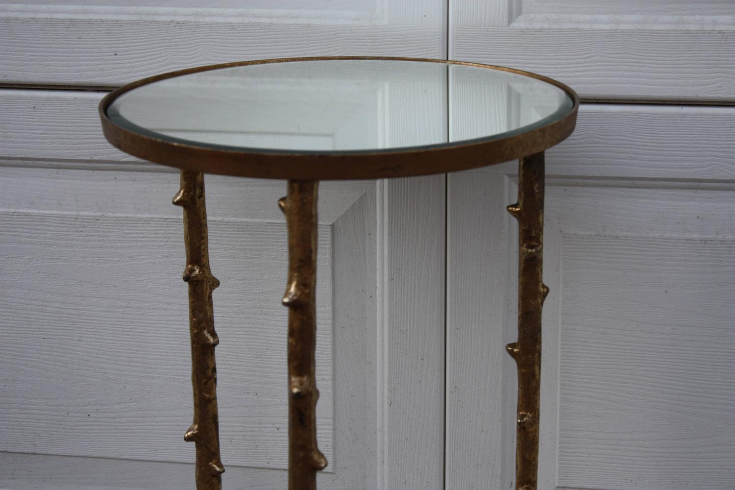 1980s French Gilt Faux Twig Mirrored Side Table Chairish : 1980s french gilt faux twig mirrored side table 4379aspectfitampwidth640ampheight640 from www.chairish.com size 640 x 640 jpeg 37kB