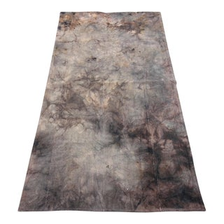 Vintage Turkish Tie Dyed Oushak Curtain Kilim Rug- 2′11″ × 6′