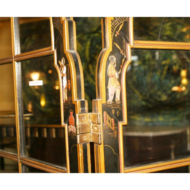 Jansen 3-Panel Chinoiserie Glass Screen - Image 4 of 9