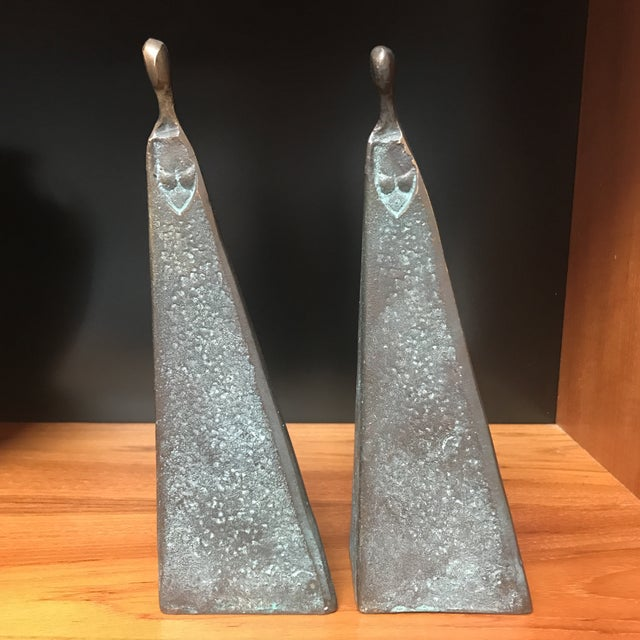 Image of Bronze Modernist Female Figures - A Pair