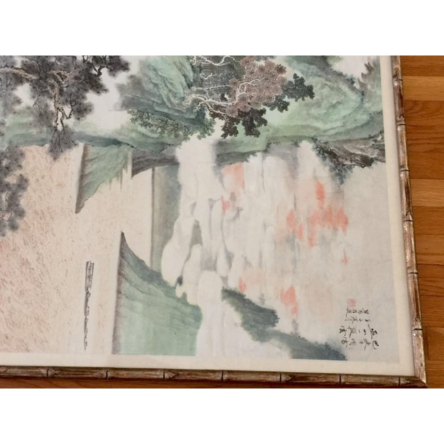 Vintage Asian Seaside Painting - Image 11 of 11