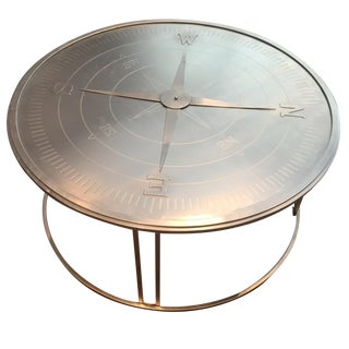 """Compass"" Round Coffee Table"