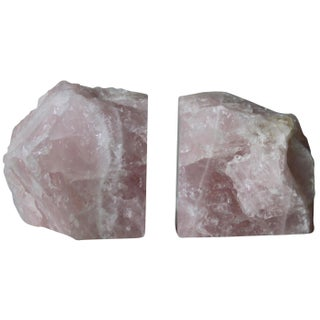 Rose Quartz Bookends - A Pair