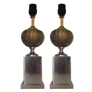 Vintage Maison Charles Urchin Table Lamps - A Pair