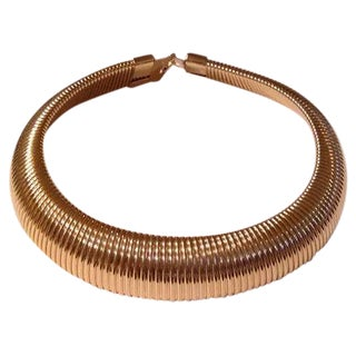 Gas Pipe Statement Choker Necklace