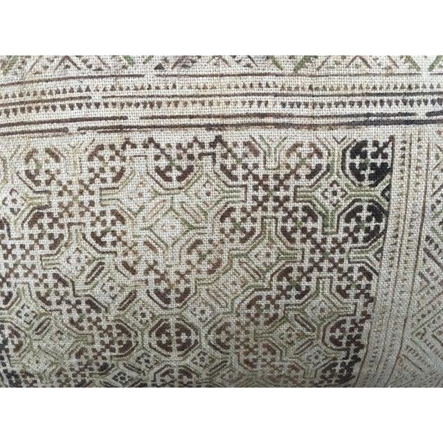 Hand Loomed Tribal Batik Textile Pillow - Image 4 of 7