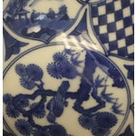 Image of Small Vintage Porcelain Japenese Blue & White Decorative Imari Bowl