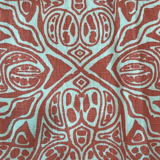 Coral Quadrille Textile Fabric- 1.3 Yards