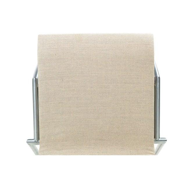 Image of Danish Modern Brushed Steel Side Chair by Kvist