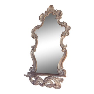 Vintage Italian Rococo Mirror With Shelf