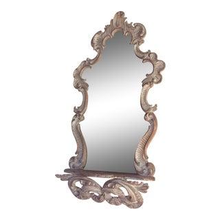 Vintage Italian Rococo Mirror With Shelf