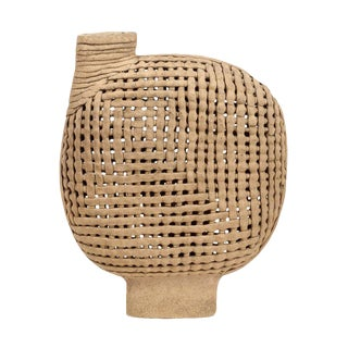 Interwoven Stoneware Vessel